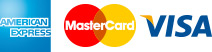 Amex - Mastercard - VISA