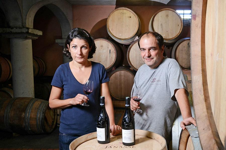 Isabelle und Christophe Sabon von der Domaine de la Janasse