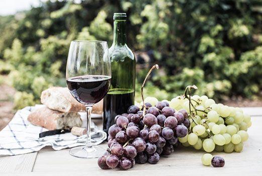Ein Glas Rioja Wein