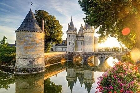 Wasserschloss an der Loire