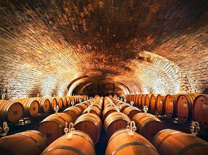 Der Weinkeller des Weinguts von Winning